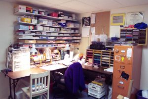 My old, basement stamp area